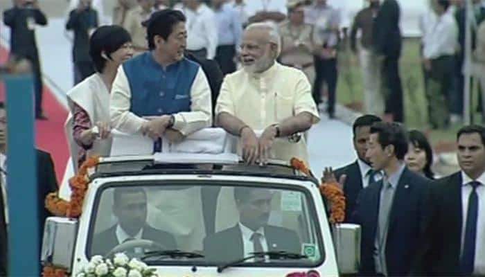 Japanese PM Shinzo Abe arrives on two-day India visit
