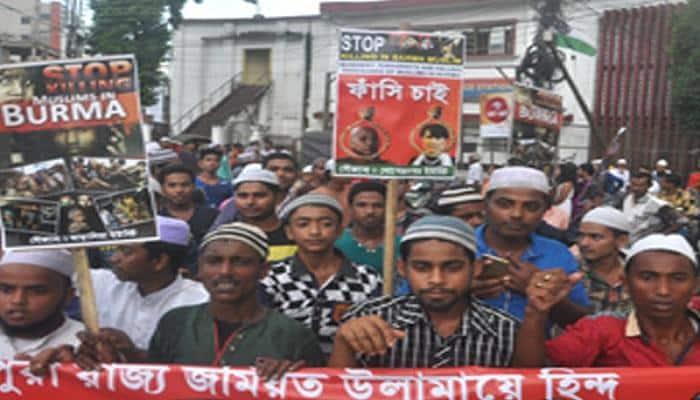 Muslims hold rally in Agartala against atrocities on Rohingyas in Myanmar