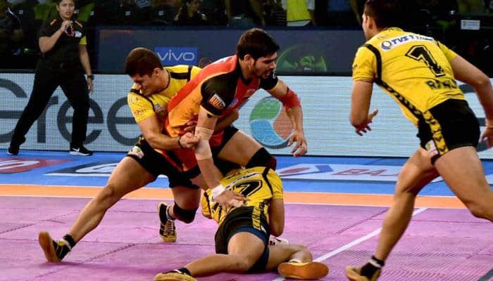 PKL 2017: Telugu Titans vs Bengaluru Bulls match ends 26-26 draw