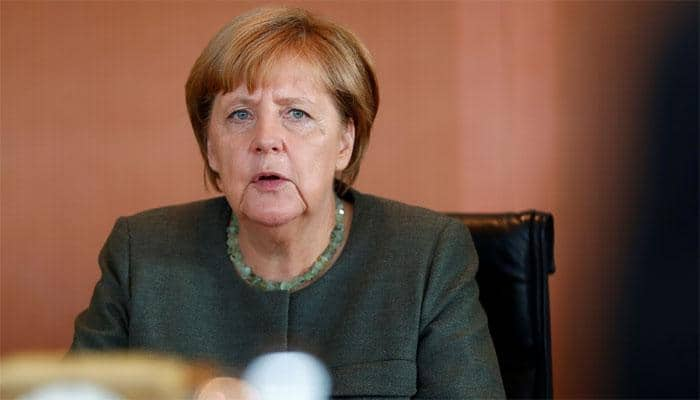 Angela Merkel says in 'clear disagreement' with Donald Trump over North Korea