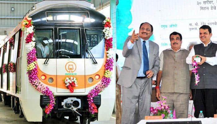 Nagpur metro trial run conducted; Nitin Gadkari, Devendra Fadnavis flag off train