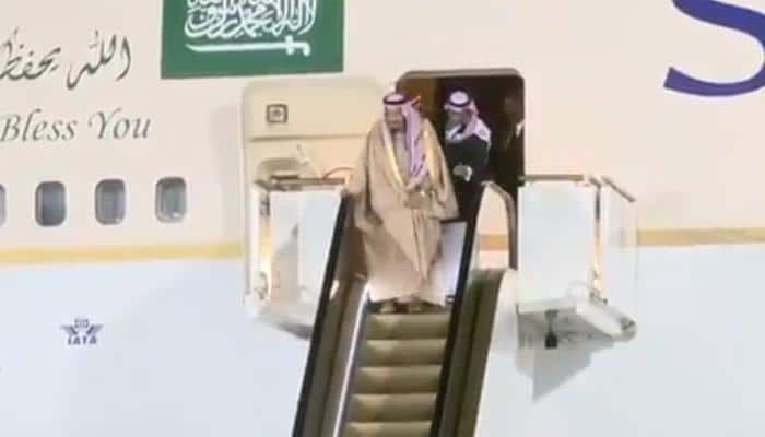 Saudi King's golden escalator breaks down during historic visit to Russia