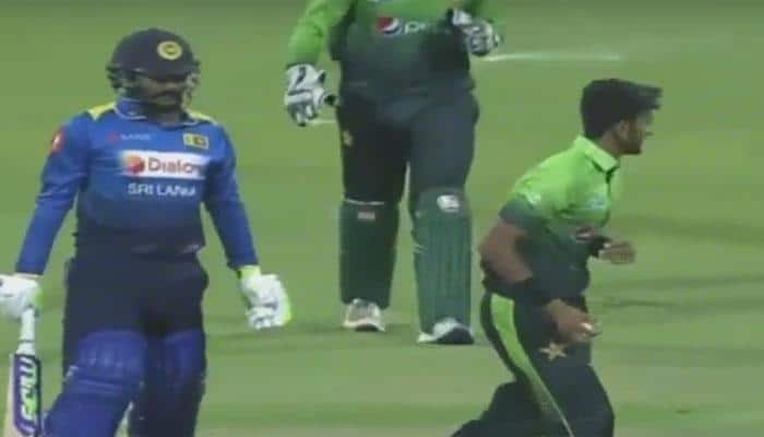 Watch: Pakistan pacer Hasan Ali makes fun of Lankan batsman Sachith Pathirana