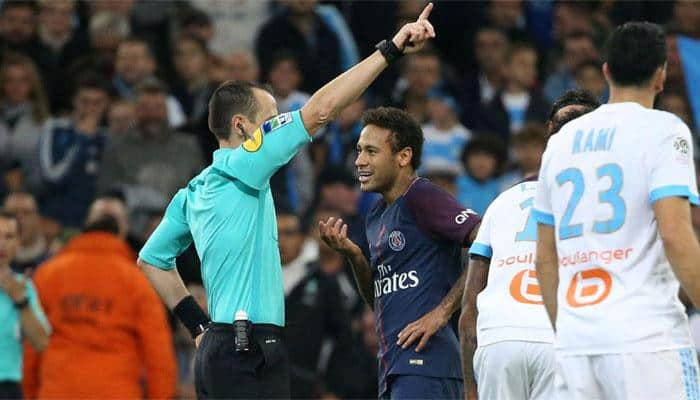Neymar gets one-match ban for Marseille red