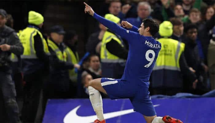 Alvaro Morata strikes as Chelsea derail Manchester United title bid