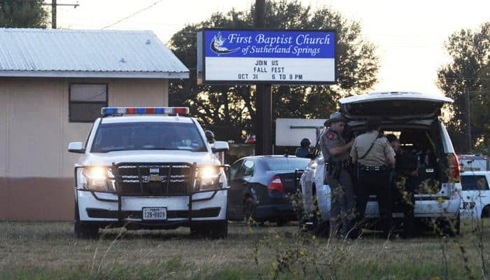 Texas church shooting: At least 26 dead, Donald Trump says 'our hearts are broken'