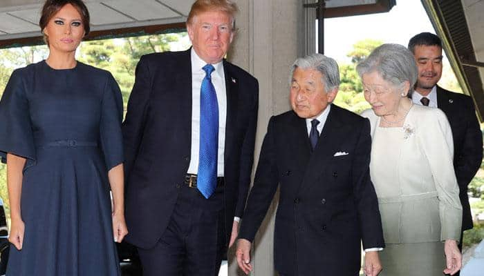 Donald Trump passes tricky protocol test with Japanese emperor