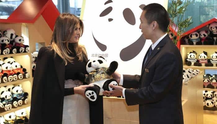 Melania Trump meets cuddly pandas in Beijing zoo, hikes Great Wall of China