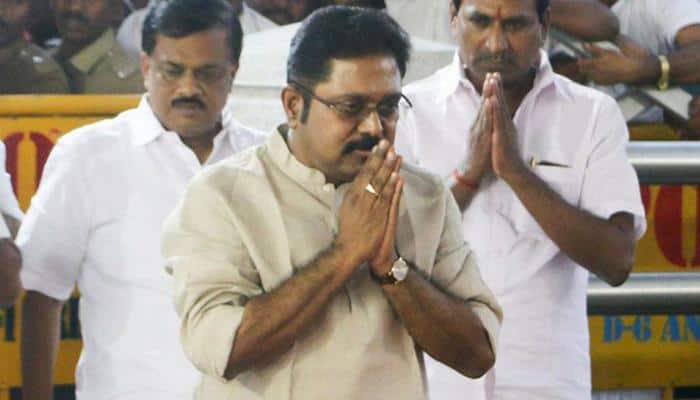 Dhinakaran files nomination for RK Nagar by-polls, says will teach opponents a lesson