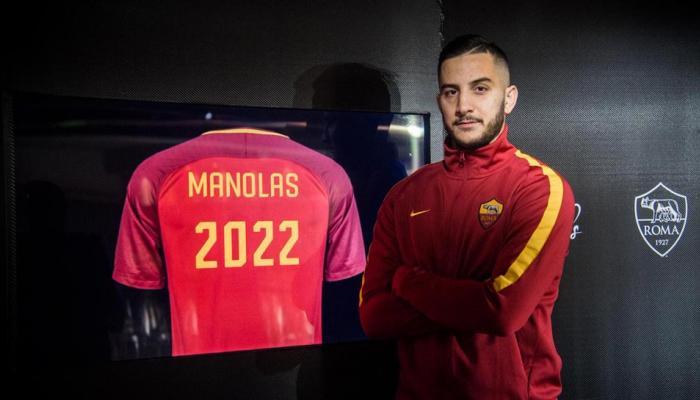 AS Roma defender Kostas Manolas pens down a new contract