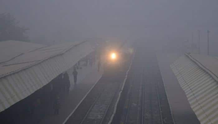 Cold Monday morning in Delhi, nine trains cancelled
