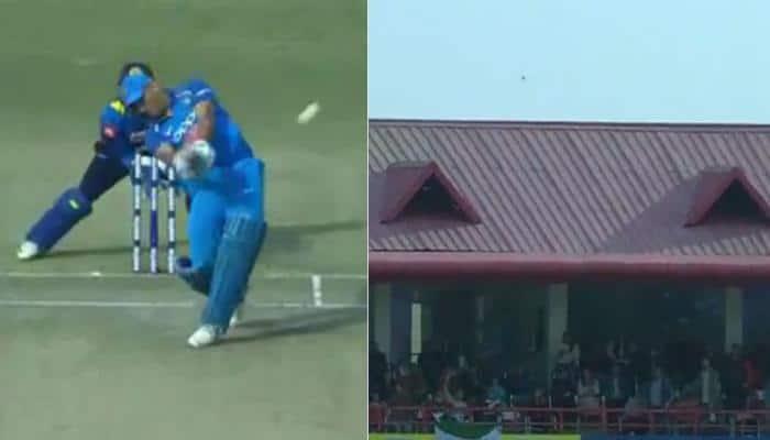 India vs Sri Lanka, 1st ODI: MS Dhoni hits monster sixes during his Dharamshala masterclass — Watch