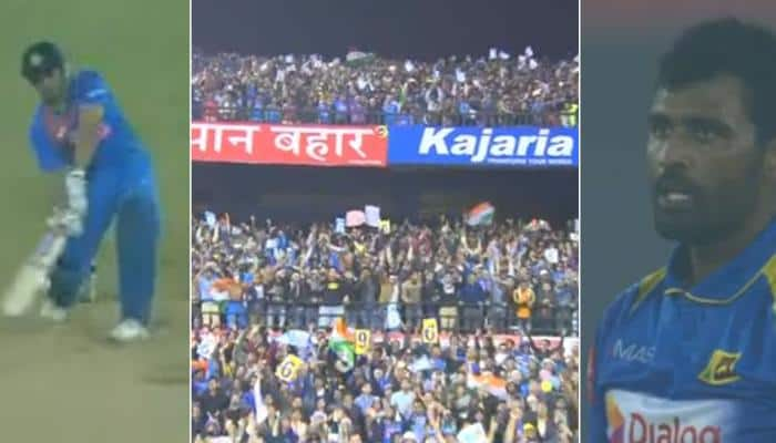 India vs Sri Lanka, 1st T20I: MS Dhoni's towering last-ball six sends fans into frenzy – Watch