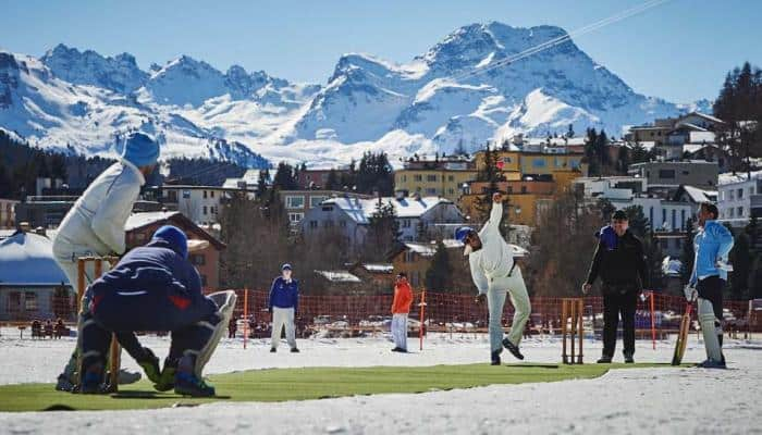 Shahid Afridi and Graeme Smith join former stars for St. Moritz Ice Cricket in Switzerland