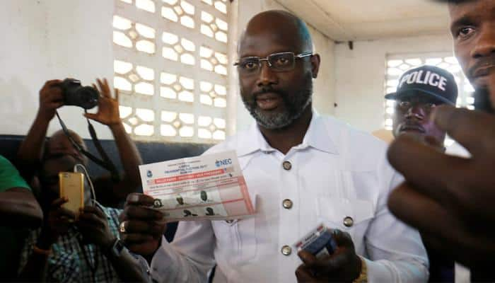Ex-footballer, vice-president contend in Liberia leadership vote