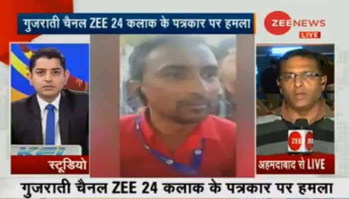 Zee journalists attacked by anti-social elements while reporting on Triple Talaq