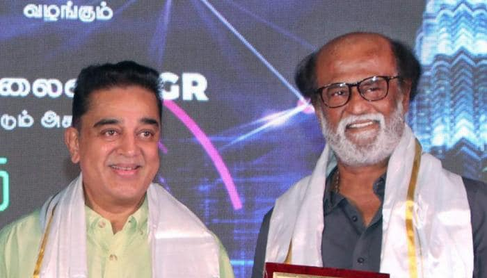 Rajinikanth, Kamal Haasan share stage, fuel speculations on star alliance