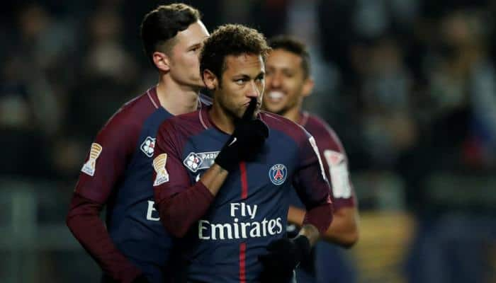 Neymar scores four as Edinson Cavani matches Zlatan Ibrahimovic's record