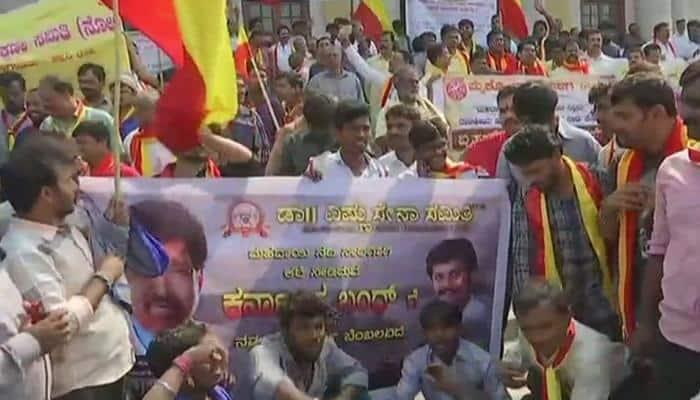 Karnataka bandh: Protest in Attibelle against Centre's 'apathy' towards Mahadayi River water dispute