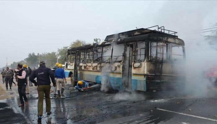 Padmaavat violence: 18 arrested for pelting stones on school bus in Gurugram