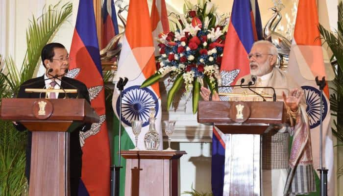 India, Cambodia ink four pacts, PM Modi says ready to further strengthen ties
