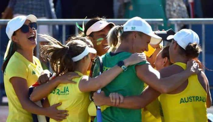 Ashleigh Barty leads Australia to Fed Cup victory over Ukraine