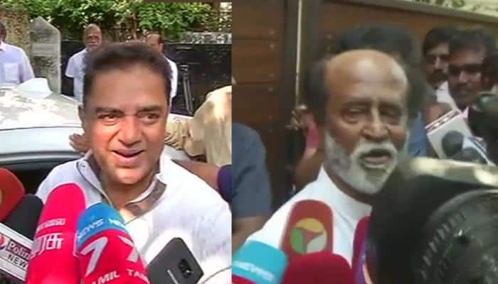 Kamal Haasan meets Rajinikanth in Chennai, to launch political party on February 21