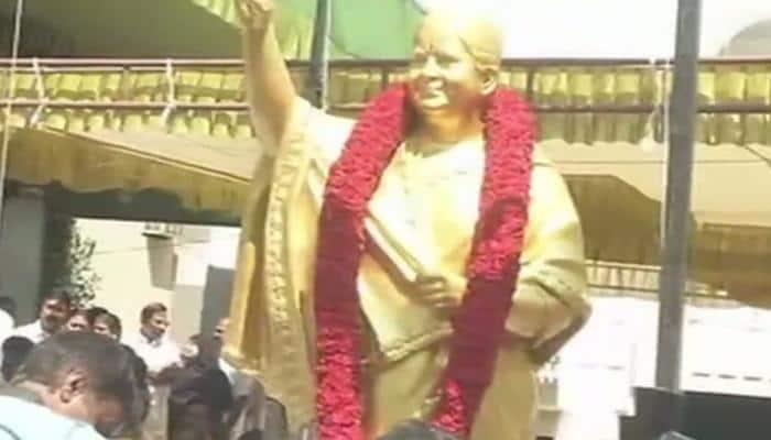 AIADMK unveils Jayalalithaa's statue on her 70th birth anniversary in Chennai