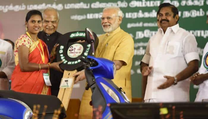 On Jayalalithaa's 70th birth anniversary, PM Modi launches 2-wheeler subsidy scheme for women