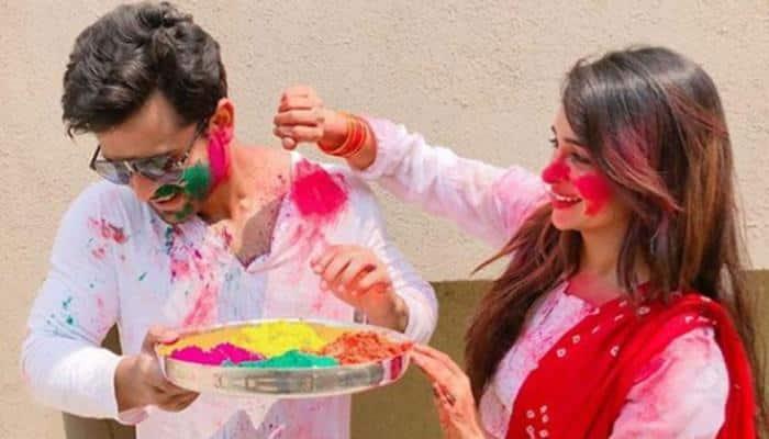 Shoaib Ibrahim and Dipika Kakar's Holi video is romance at its glorious best