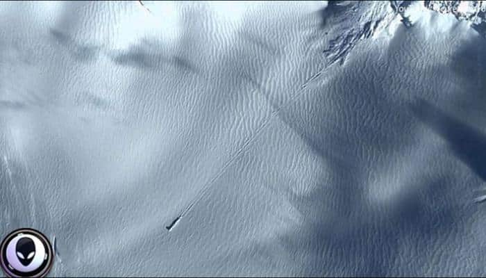 Google Earth images from Antarctica proof of 'UFO crash landing' site?