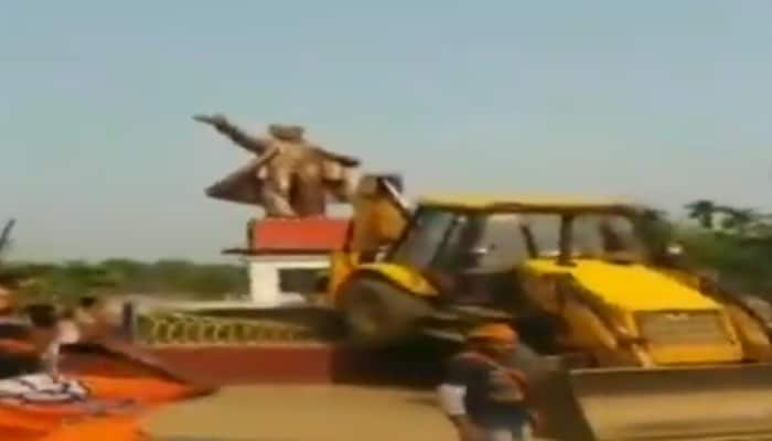 Vladimir Lenin statue demolished in Tripura, Left up in arms against BJP and RSS