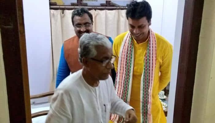 BJP invites Manik Sarkar for Biplab Deb's swearing-in; outgoing CM agrees to attend