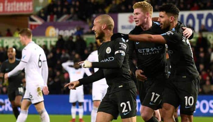 David Silva brace helps Manchester City go 16 points clear at the top