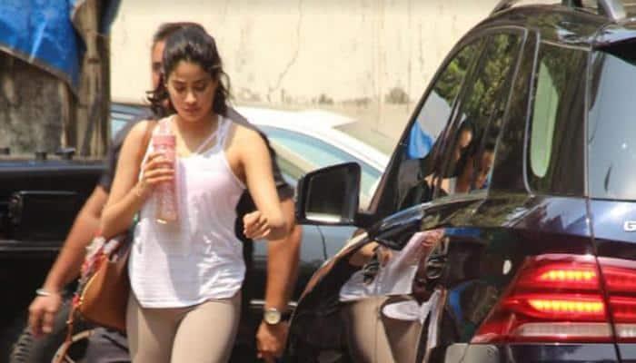 Janhvi Kapoor arrives from Sridevi's prayer meet in Chennai, hits gym — Pics inside