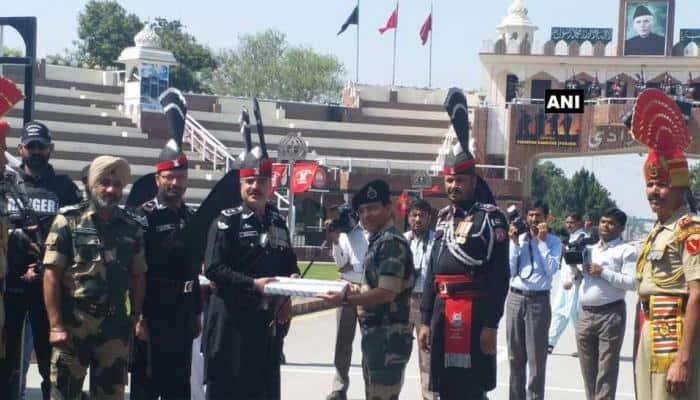 India, Pak armies exchange sweets on Pakistan National Day