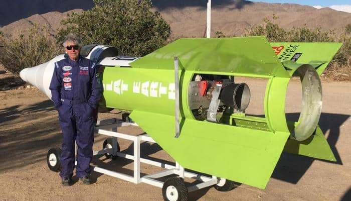 61-year-old man launches himself in homemade rocket; lands on Mojave Desert