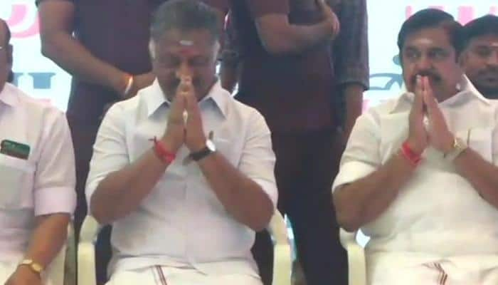 Demanding Cauvery Mangement Board, E Palaniswami-O Panneerselvam sit on hunger strike