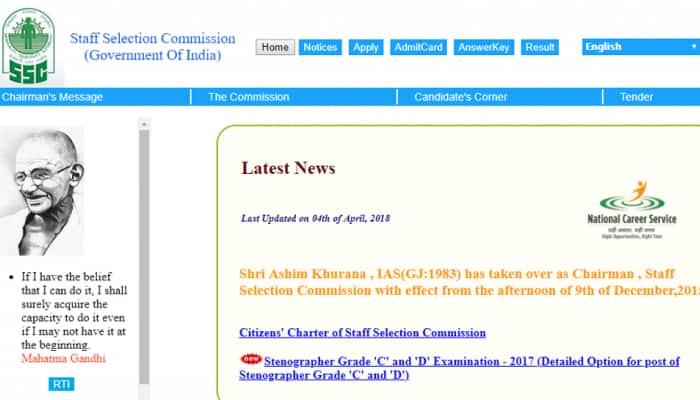 SSC Recruitment 2018: SSC notifies 1,819 job vacancies on ssc.nic.in – Qualification, important dates, job locations