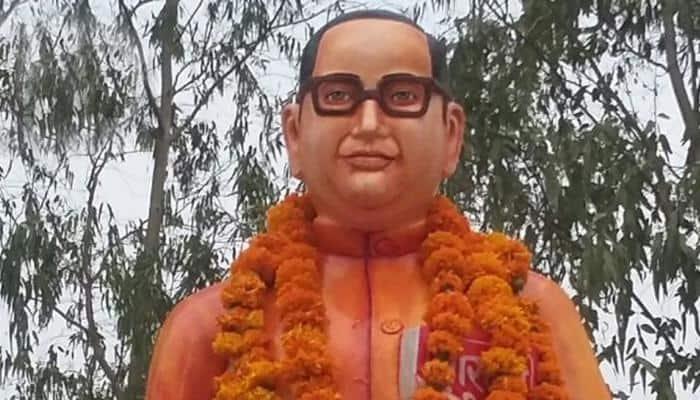 Vandalised Ambedkar statue rebuilt, turns saffron in Uttar Pradesh's Badaun