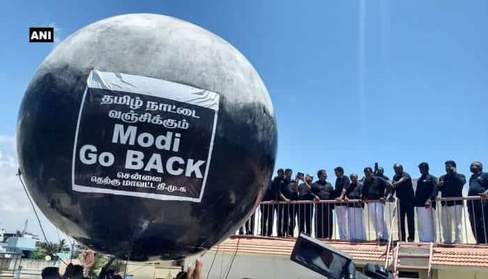 Modi go back: Giant balloon, Twitter trend meet PM Narendra Modi in Chennai