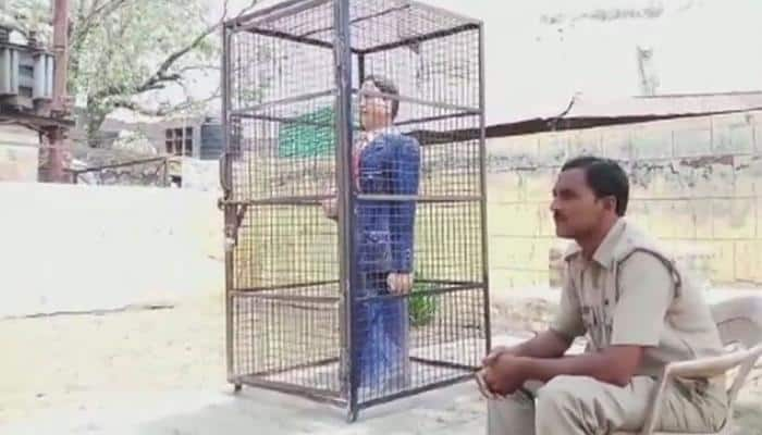 BR Ambedkar's statue in UP's Badaun caged to protect it from vandals