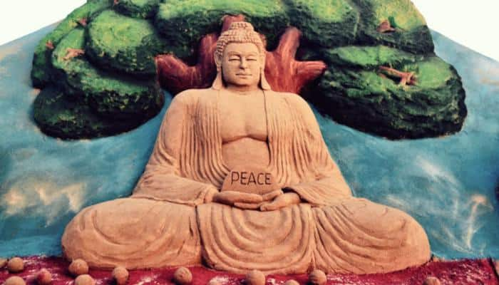 Sudarsan Pattnaik pays sand art tribute on Buddha Purnima, prays for world peace—Pics