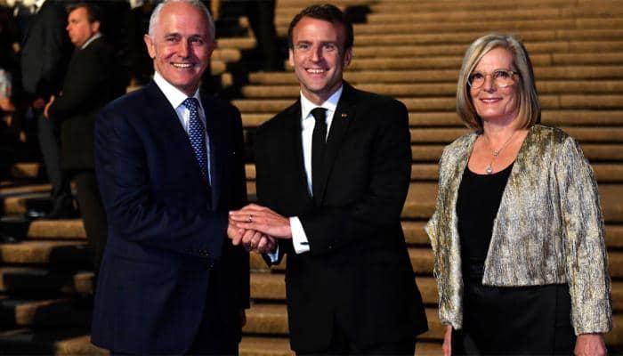 French President Emmanuel Macron calls Australian PM Malcolm Turnbull's wife 'delicious'