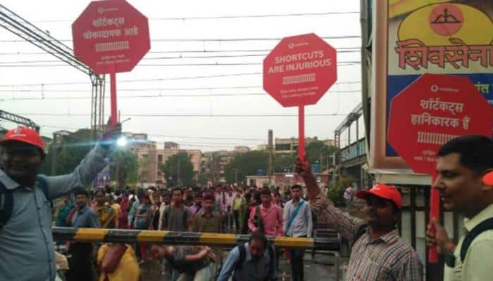 'Shortcuts are injurious': Vodafone conducts campaign in Mumbai on danger of crossing Railway tracks