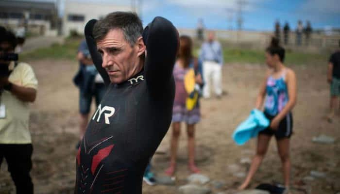 Frenchman swimmer Ben Lecomte begins Pacific Ocean crossing attempt