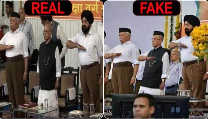 RSS unites with Congress, condemns fake images of Pranab Mukherjee at Sangh HQ