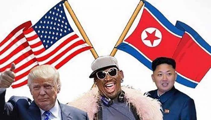 Former NBA star Dennis Rodman arrives in Singapore for  Donald Trump-Kim Jong summit