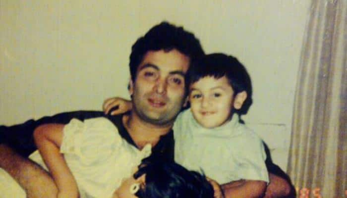 Rishi Kapoor shares throwback picture with Ranbir Kapoor on Father's Day-See Inside