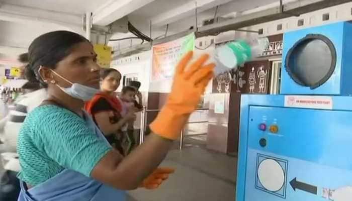 Railways installs plastic bottle crushers in several stations in AP, Telangana